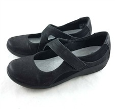 Clarks Cloudsteppers Black Mary Janes Soft Cushion Comfort Shoes Womens 8 M - $29.69
