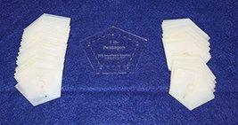 "Mylar 1"" & 2"" Sides -Flattened Pentagon 102 Piece Set - $45.99"