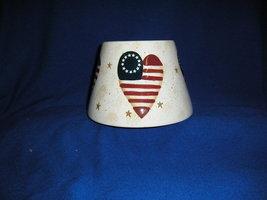 Home Interiors USA Heart Flag Candle Shade Jar Topper  Patriotic. - $12.99