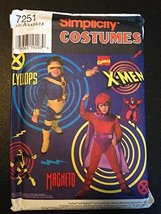Simplicity 7251 Sewing Pattern, X-Men Cyclops & Magneto Child Costumes, ... - $44.10