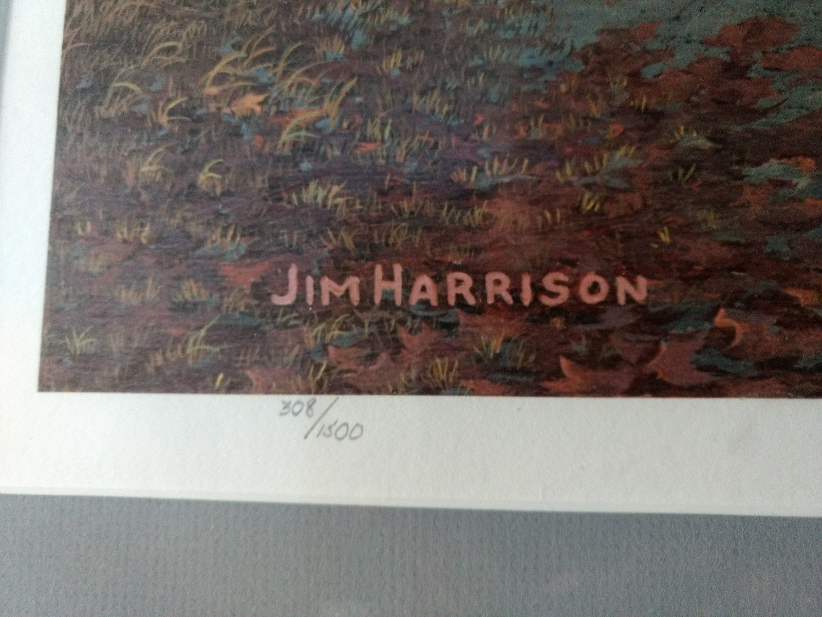 Jim Harrison Signed Print 308 of 1500 Shrine Circus Framed in Barn Siding w/COA