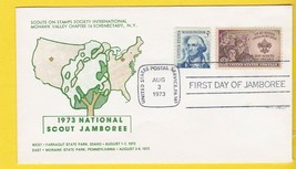 BOY SCOUTS 1973 NATIONAL JAMBOREE FIRST DAY US POSTAL SERVICE PA AUGUST ... - $1.98