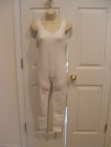 NWT  carabella white tank style sleeveless unitard/catsuit  made in USA ... - $40.58