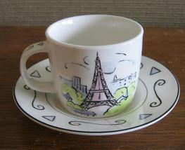 Studio Nova Vues de Paris Eiffel Tower Demitasse Set Pristine  TPC45 - $11.76