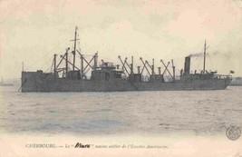 Le Mars Coal Collier Supplying American Ships Cherbourg France postcard - $6.44