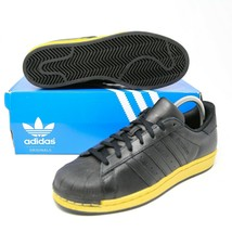 adidas SuperStar Shell Toe BB8119 Black Gold Metallic Originals Pro Mode... - $75.97