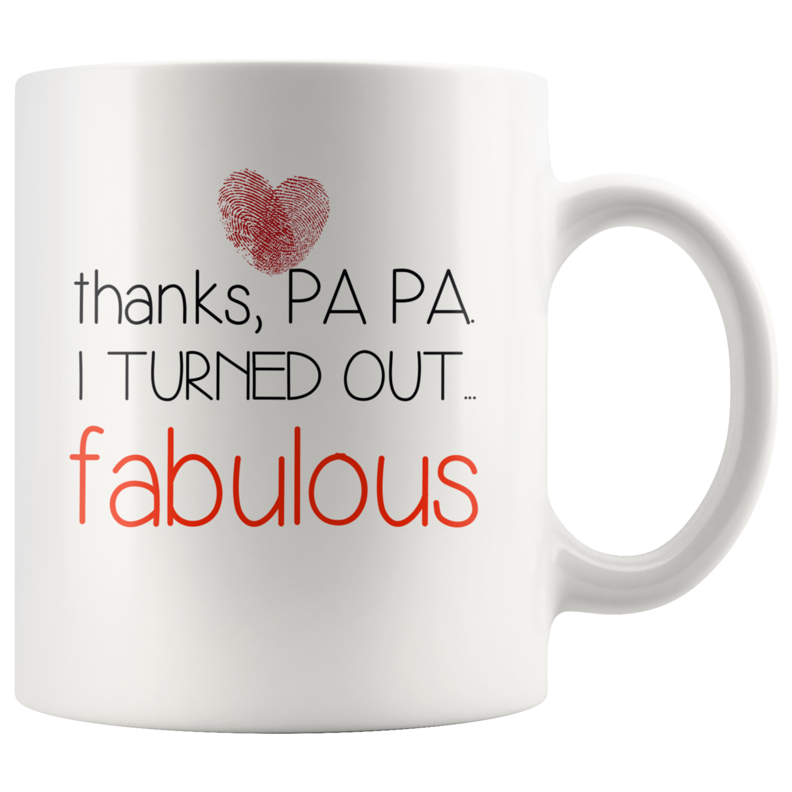 Thanks papa I turned out fabulous coffee mug gift