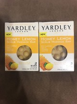2x - Yardley London Honey Lemon Scrub Massage Soap Exfoliate Revitalize - $18.76