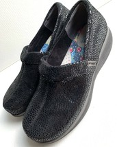 GREY'S ANATOMY by SOFTWALK Women's Black Shiny Speck Nursing Work Shoes 7.5M - $34.64