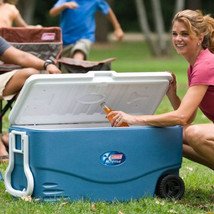 Wheeled Cooler 100 Qt for 130 Cans Two Way Handles Picnic Camping Backya... - $87.91