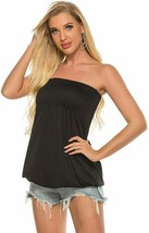 Womens Holiday Strapless Pleated Tube Top Shirt Halter Twisted Tank Top ... - $22.99+