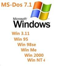 Dos 7.1 Win 3.11 Win 95, Win 98se, Win ME, Win 2000, Win NT Bootable Bac... - $6.49