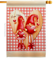 Gnome Love - Impressions Decorative House Flag H101068-BO - $36.97