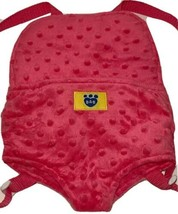 BABW Build A Bear Workshop Bear Backpack Carrier Pouch Cute Pink Girly P... - $14.69