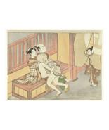 Erotica; Japanese Shunga; Caught in the Act, Suzuki Haronobu, c. 1769 - $26.72+