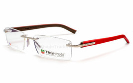 Tag  Heuer TH8109 011 Trends Rimless Optical Eyeglasses Frame Silver Red... - $128.69