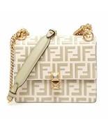 NWT Fendi KAN I FF embossed leather small bag; Rtl $2390 - $1,728.42
