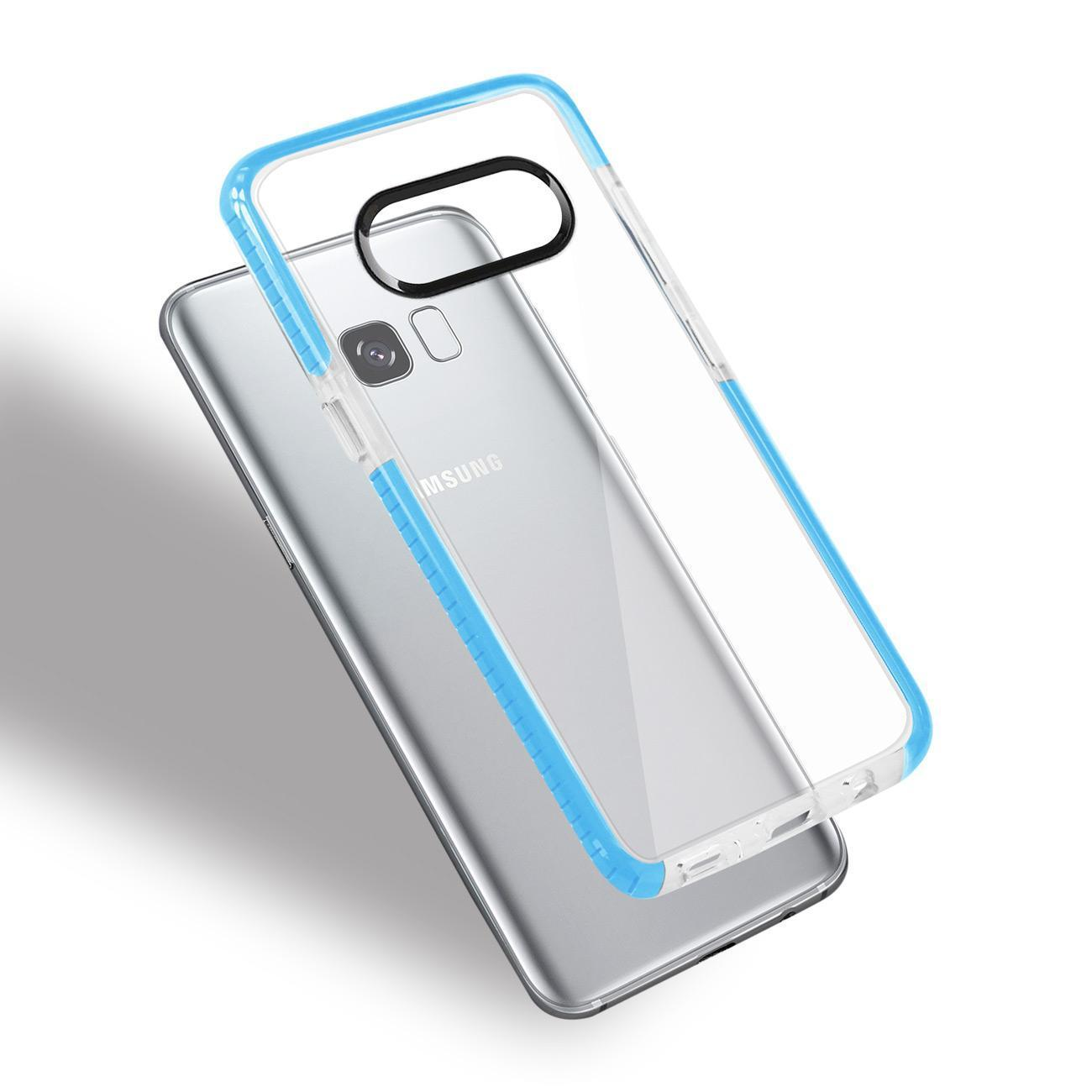 Reiko Samsung Galaxy S8- Sm Soft Transparent Tpu Case In Clear Blue
