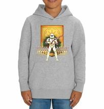 Star Wars Trooper Candy Cane Children's Grey Unisex Hoodie - $28.83