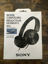 Sony MDR-ZX110NC Noise Cancelling Headphones Black Like New - $18.99