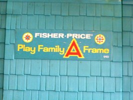 Vtg. Fisher Price Play Family #990 A-Frame Comp. w/Wooden LP & Ladder/NR MT! (M) image 4