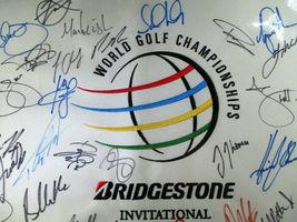 BRIDGESTONE INVITATIONAL MUTI SIGNED GOLF FLAG / 19 SIGNERS / TIGER WOODS / LOA image 2