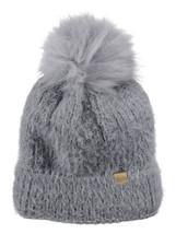 New! D&Y Super Soft Feathered Faux Fur Pom Cuffed Knit Fluffy Beanie - $14.49