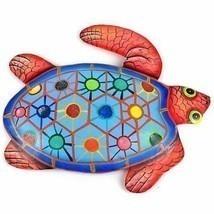 Home Decor Hand Painted Metal Turtle Tropical Design Decoration Sculptur... - $29.65