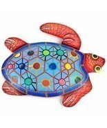 Home Decor Hand Painted Metal Turtle Tropical Design Decoration Sculptur... - €25,25 EUR