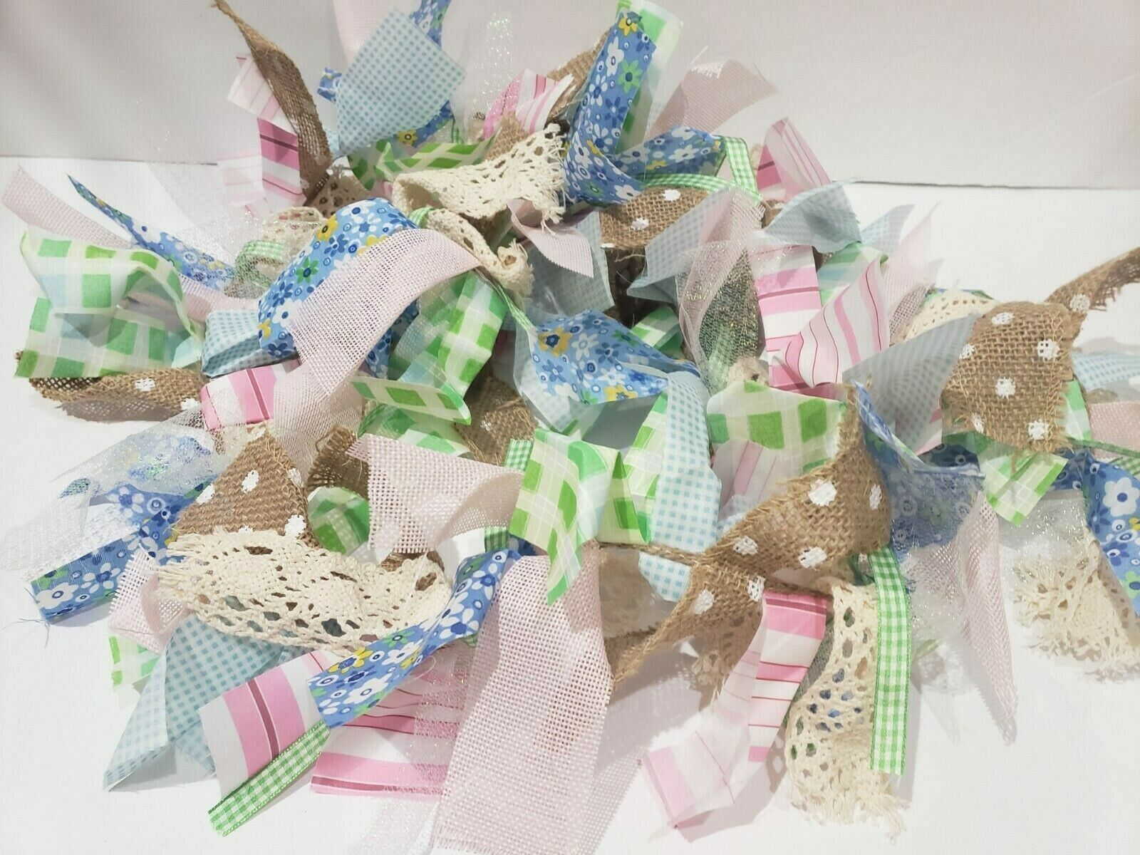 Primary image for Easter Fabric Rag Pastel Garland Home Decor Decoration 6FT