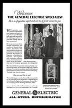 Modern Electric Refrigerator 1930 AD General Electric All Steel Photo Pr... - $10.99