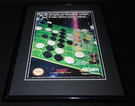 Othello 1988 NES Nintendo Acclaim 11x14 Framed ORIGINAL Advertisement - $34.64