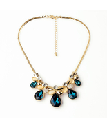 Drop Stones Big Summer All-match Female Pendant Necklaces With Crystals - $18.76