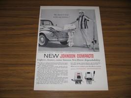 1962 Print Ad Johnson Sea-Horse Compact Outboard Motors VW Beetle - $10.87