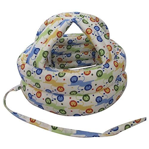 Lion Pattern Baby Drop Resistance Crash Helmet Protective Headgear Cap