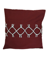 Burgundy Loop and String Cotton Pillow Sham Cover - $19.99+