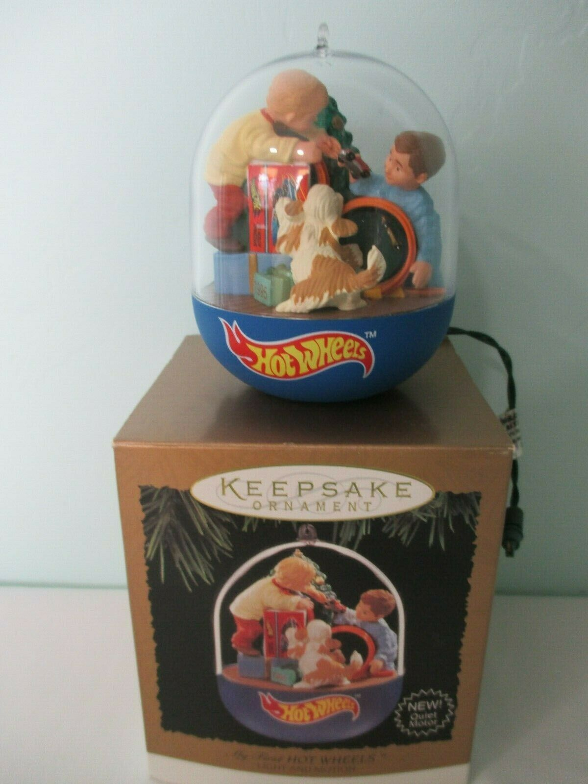 My First Hot Wheels Light and Motion Hallmark Magic Ornament 1995 Gently Used image 2