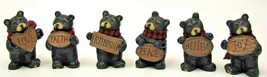 Lot of 9 Mini Bears Holding Signs Resin Home Decor Gifts Figurines Cubs ... - $49.45