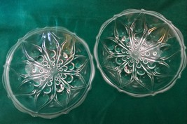 Anchor Hocking Teardrop dot 3 toed mint candy dishes shallow scalloped bowls - $14.84