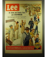 1950 Lee Work Clothes Ad - At state and county fairs and everywhere - $14.99