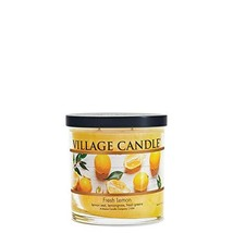 Village Candle Fresh Lemon Small Tumbler Scented Candle 7.5 oz Yellow - $26.06