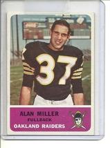(B-1) 1962 Fleer Football #67: Alan Miller - $8.00