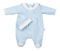 Le Top Preemie Boys Anchor Away Footed Longall & Matching Hat - $30.00