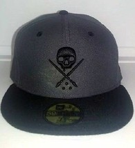 Sullen New Era Eternal Skull Grey Biker Tattoo Goth Punk Fitted Hat Cap Sca0032 - £26.97 GBP