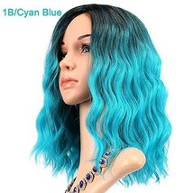 Feelgrace Curly Wave Wig Short Bob Wigs Shoulder Length Middle Part Wome... - $19.43