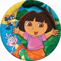 Dora The Explorer Party Dessert Cake Plates 8 Per Package Birthday Suppl... - $3.91