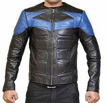 Ismahawk Night Wing Shepherd Grayson Knight Biker Costume Leather Jacket image 1