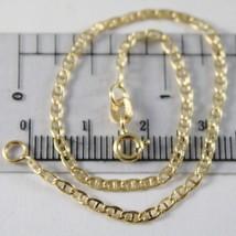 Pulsera de Oro Amarillo 750 18K, Travesaño Liso 2mm, Largo 19 CM - $142.28