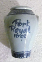 Jamaica Port Royal 1692 Ceramic Handpainted Pottery Vase Holder - $25.00