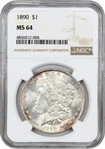 1890 $1 NGC MS64 - Morgan Silver Dollar - $150.35